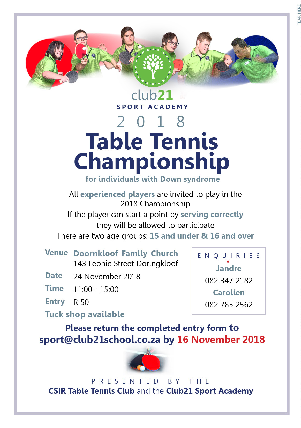 Club21 Learning Center Sport Academy Table Tennis Championship
